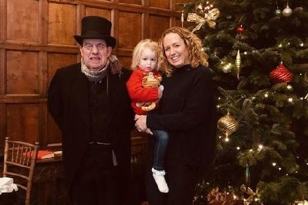 Michelle and the family visited Cannon Hall Museum to watch their festive panto