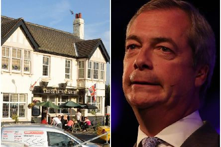 The Three Horse Shoes in Doncaster has invited Nigel Farage for a pint.