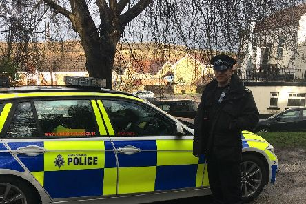 Police taking part in an operation in Mexborough