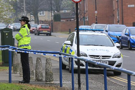 Police at the scene on Addy Sreet in Upperthorpe.