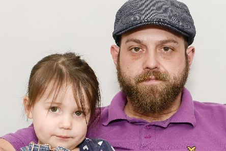 Anthony Maddison and daughter Francesca who he says was nearly abducted in The Frenchgate Centre