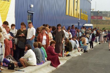 The Leeds IKEA opening day back in August 1995. Today, the company announced the store will close due to coronavirus.