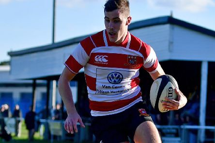 Mikey Hayward produced a man-of-the-match performance for Cleckheaton but it wasn't enough to prevent a 24-20 defeat to York last Saturday. Pic: Paul Butterfield