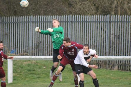 Littletown in action against Ryburn United at Beck Lane last Saturday. Picture: Chloe Feather