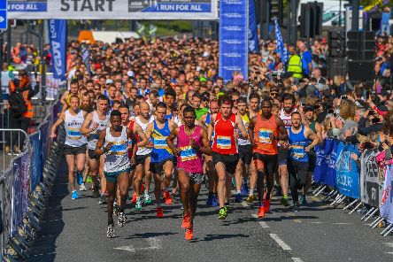 Runners set off from the Headrow at the 2019 Adsa Foundation Leeds Half Marathon