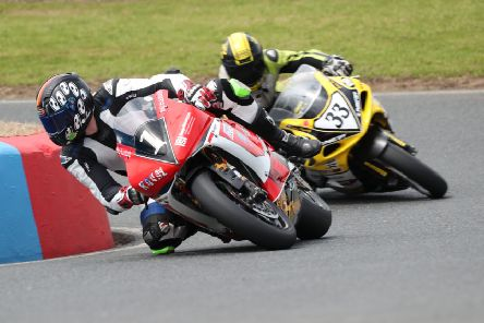 Ryan Strafford has opened up a 78-point lead in the GP1 Classic Superbikes Championships following two race wins and a second place at Mallory Park. Picture: Kerry Rawson Photography.