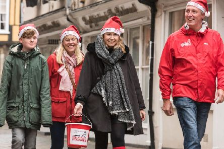 As part of the celebration, Walking With The Wounded will be fund-raising in store for its Walking Home For Christmas campaign