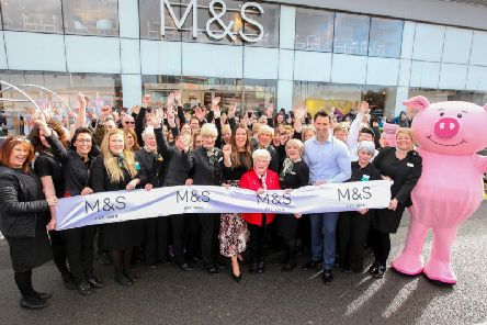 The opening of the new M&S store in St Helens