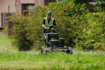 The councils grass cutting service is just one of several areas that has seen budget reductions over the past two years