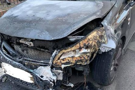 Police have launched an investigation after a Vauxhall carwas set on fire in Ashleigh Grove at around 11.30pmon Sunday, February 17.