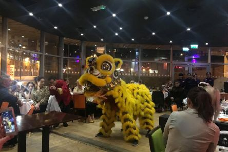 The lion dance at Asiana