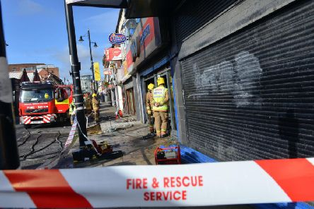 An investigation is under way into what caused the fire