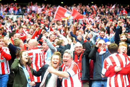 Sunderland fans were situated in the West end of Wembley during their last visit in 2014.