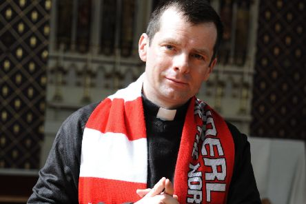 Father Marc Lyden-Smith is encouraging Sunderland Football Club fans to come to St Mary's RC Church and light a candle to support their team