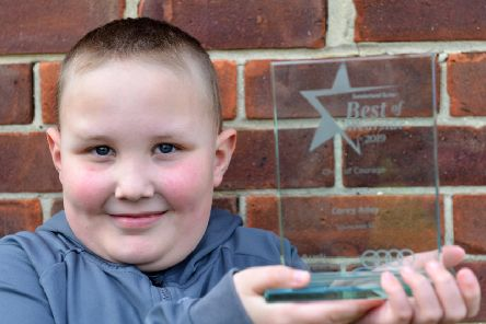 Best of Wearside Awards Child of Courage Corey Adey, 7  had a mini stroke during the awards ceremony.