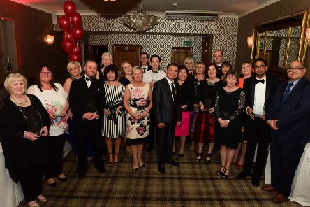 Winners at the 2018 Sunderland and South Tyneside Health Awards.