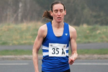 Laura Weightman, who enjoyed a fast lap at the Elswick Relays.