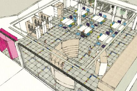 Artist's impression of how the new activity space at Sunderland Museum and Winter Gardens will look