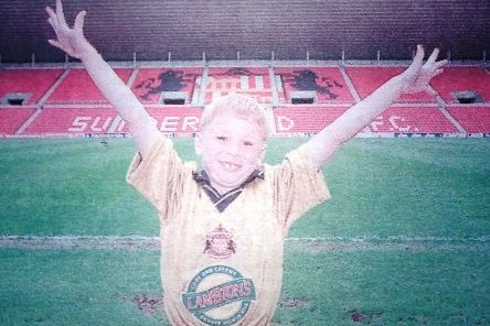 Karl Robson was chosen as the mascot for Wembley out of 5,000 people in a competition.