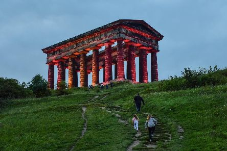Penshaw Monument will be lit up in Sunderland's colours over the next few nights as the club heads to Wembley for the play-offs.