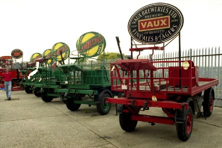 A line of Vaux drays.