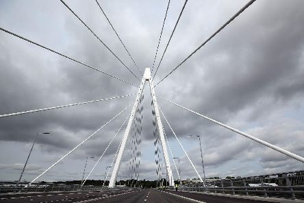 Official opening of the Northern Spire bridge to traffic. Picture: CHRIS BOOTH CHRIS BOOTH