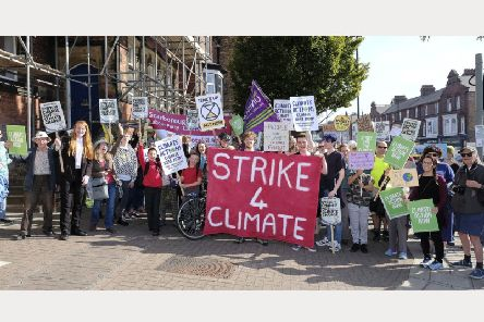 The climate strike in Scarborough. PIC: Richard Ponter