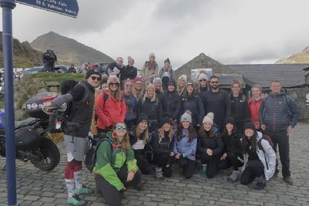 Members of Barbelle Scarborough who took on the challenge to climb Mount Snowdon