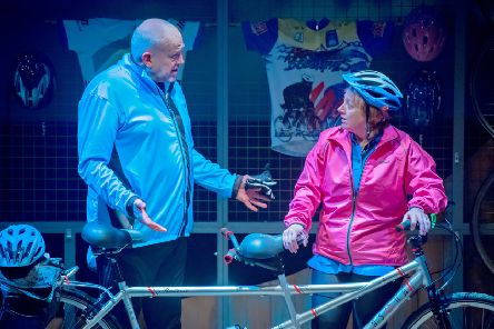 John Godber and Jane Thornton in The Scary Bikers.
