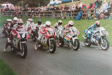 Racers on the start line in September 1993.