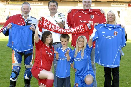 A Scarborough FC kit launch at the McCain Stadium