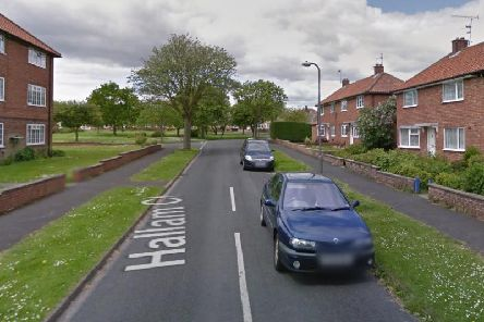The vehicle was parked on Hallam Close, Filey.
