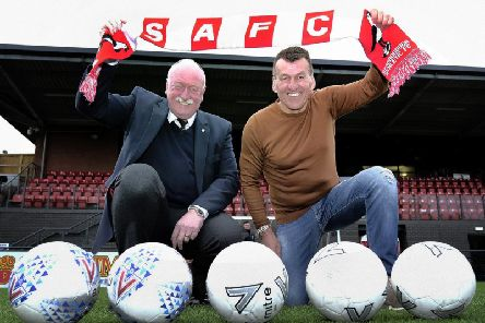 Boro boss John Deacey (right) is ready to start planning for next season