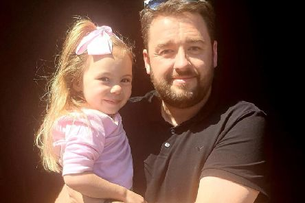 Thalia with comedian Jason Manford