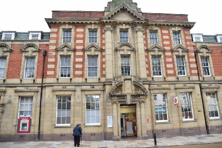 Scarborough Post Office, which has now closed.