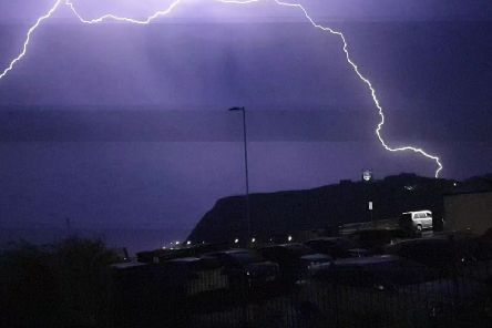 Lightning over Scarborough, by Mike Jackson.