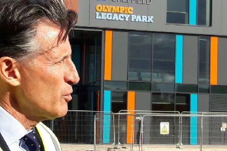 Lord Sebastian Coe on a tour of Sheffield's Olympic Legacy Park