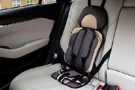 Child car seats like this one, which is illegal to use in the UK, are still available to buy for as little as 8 in online marketplaces, according to the consumer watchdog Which? (pic: Which?/PA Wire)