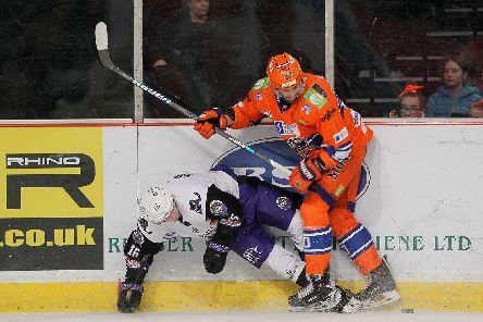 John Armstrong on the boards against Clan. Pic by Hayley Roberts