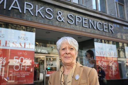 Lorraine Lee outside Marks and Spencer where she used to work