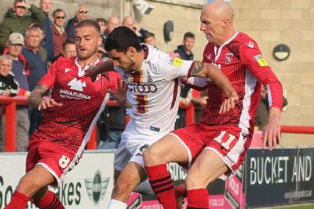 Morecambe lost against Bradford City at the weekend