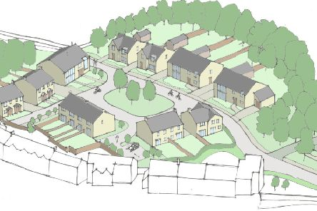 An artist's impression of the site in Warton