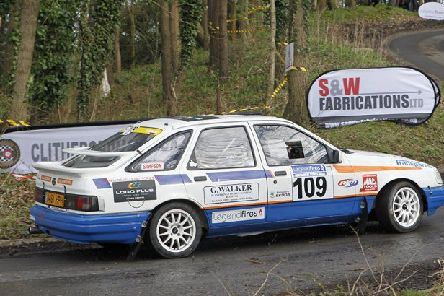 Bill Hignett in his Sierra at the Legend Fires North West Stages Rally.  Picture: GMS
