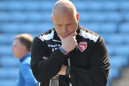 Morecambe boss Jim Bentley had plenty to ponder at the weekend     Picture: B&M Photo