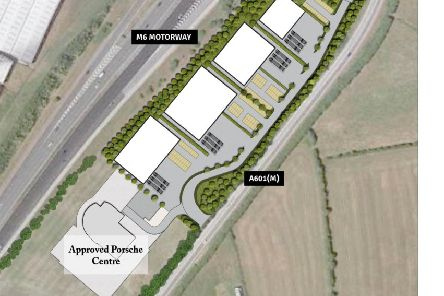 The proposed plans for commercial space near Carnforth