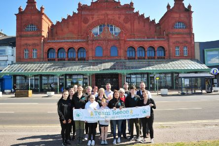 The charity ball will be held at the Winter Gardens. Reece's mum Rachel O'Neil is pictured fourth from left.