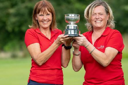 Lorraine Birch and Julie Norcliffe. Picture: Leaderboard Photography.