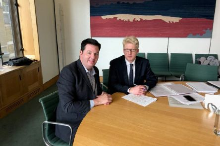 MP Andrew Percy with transport minister Jo Johnson MP