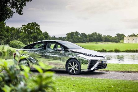In production: The futuristic looking Toyota Mirai.