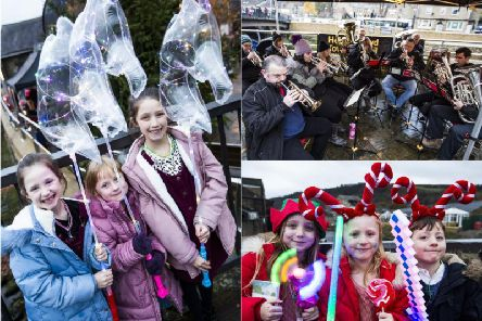 It's officially Christmas in Mytholmroyd as lights are switched on at festive event
